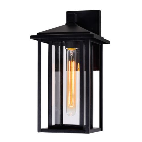 CWI LIGHTING 0417W7-1-101 Crawford 1 Light Black Outdoor Wall Light