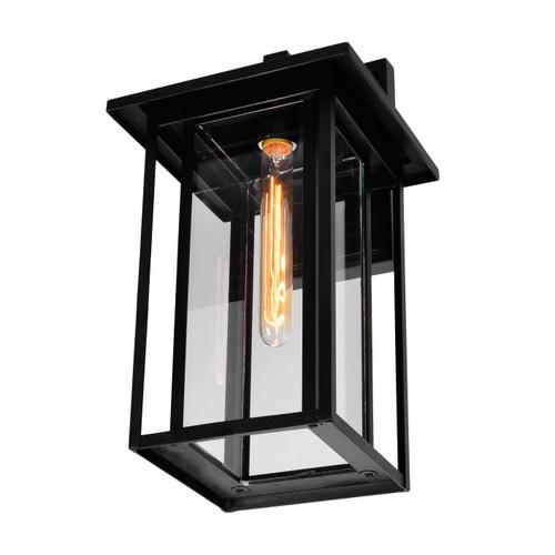 CWI LIGHTING 0417W9-1-101 Crawford 1 Light Black Outdoor Wall Light