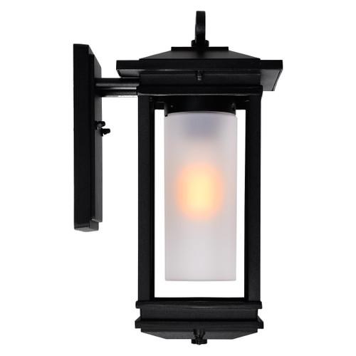 CWI LIGHTING 0412W7-1-101 Granville 1 Light Outdoor Black Wall Lantern