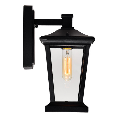 CWI LIGHTING 0413W7-1-101 Leawood 1 Light Black Outdoor Wall Light