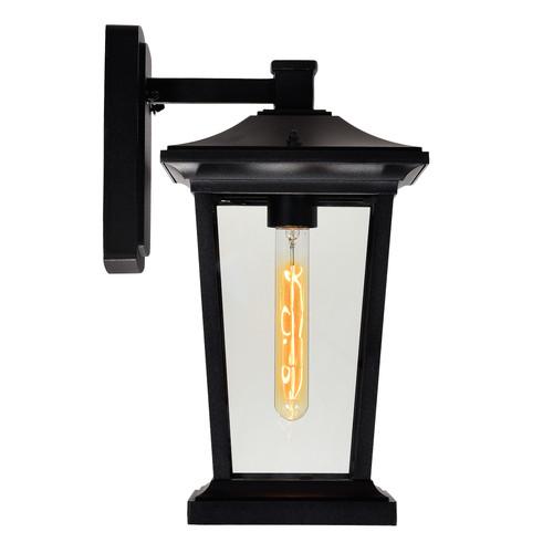 CWI LIGHTING 0413W8-1-101 Leawood 1 Light Black Outdoor Wall Light