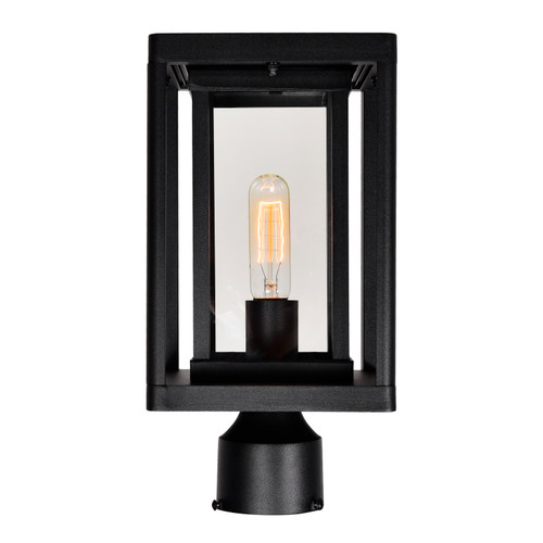 CWI LIGHTING 0415PT7-1-101 Mulvane 1 Light Black Outdoor Lantern Head