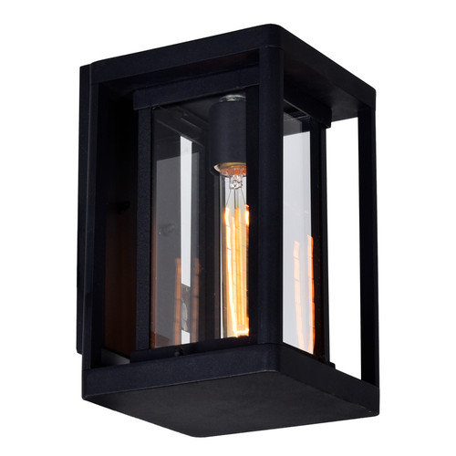 CWI LIGHTING 0415W7-1-101 Mulvane 1 Light Black Outdoor Wall Light