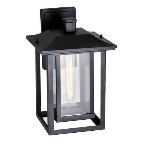 CWI LIGHTING 0414W10-1-101 Winfield 1 Light Black Outdoor Wall Light