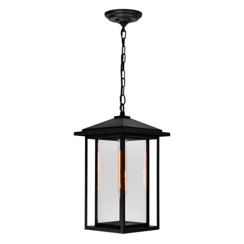 CWI LIGHTING 0417P9-1-101 Crawford 1 Light Black Outdoor Hanging Light