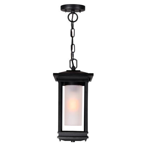CWI LIGHTING 0412P7-1-101 Granville 1 Light Black Outdoor Hanging Light