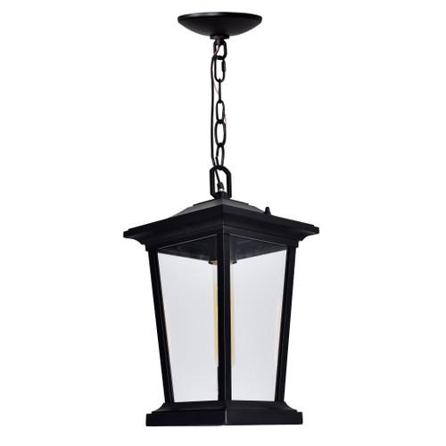 CWI LIGHTING 0413P8-1-101 Leawood 1 Light Black Outdoor Hanging Light