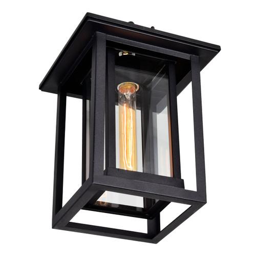 CWI LIGHTING 0414P10-1-101 Winfield 1 Light Black Outdoor Hanging Light