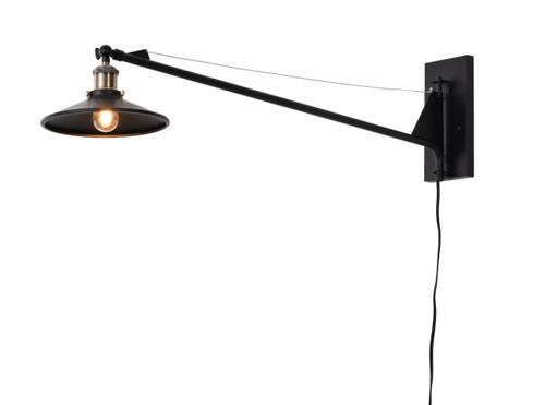 BETHEL INTERNATIONAL DU55 1-Light Wall Sconce Black