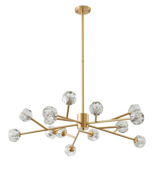 BETHEL INTERNATIONAL FT76C40BR 15-Light Chandelier Brass
