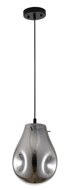 BETHEL INTERNATIONAL DLS49P8SM 1-Light Pendant Black & Smoke