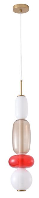 BETHEL INTERNATIONAL DLS33P26WGR 1-Light LED Pendant White, Grey, Red
