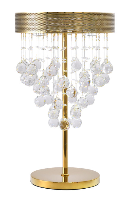 BETHEL INTERNATIONAL LX03TG 3-Light Table Lamp Gold