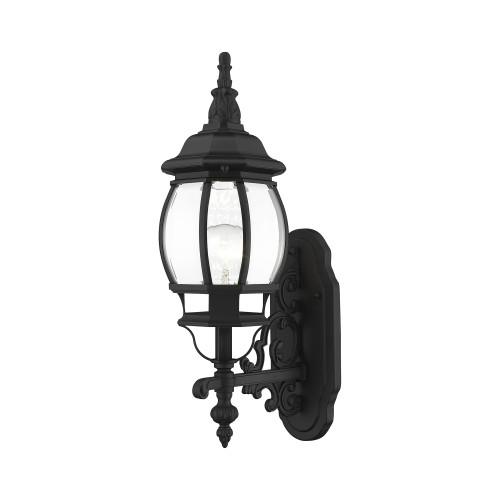 LIVEX LIGHTING 7520-04 1 Light Black Outdoor Wall Lantern Black