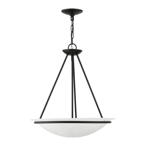LIVEX LIGHTING 4826-04 Black 3-Light Pendant Chandelier Black