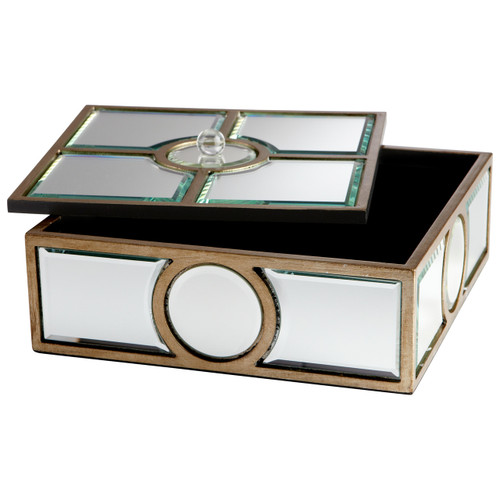 CYAN DESIGN 05935 Through The Lens Container, Clear and Gold