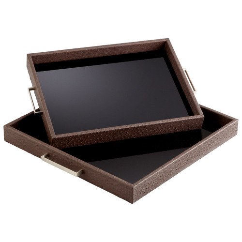 CYAN DESIGN 06007 Large Chelsea Tray, Brown