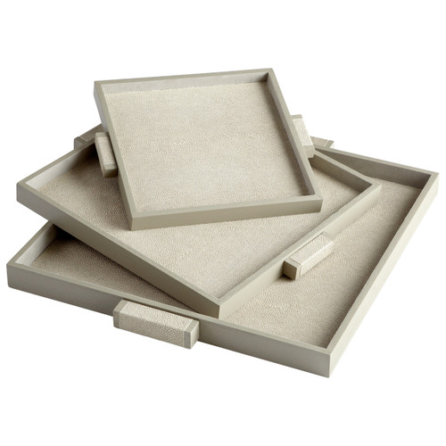 CYAN DESIGN 06010 Large Brooklyn Tray, Shagreen