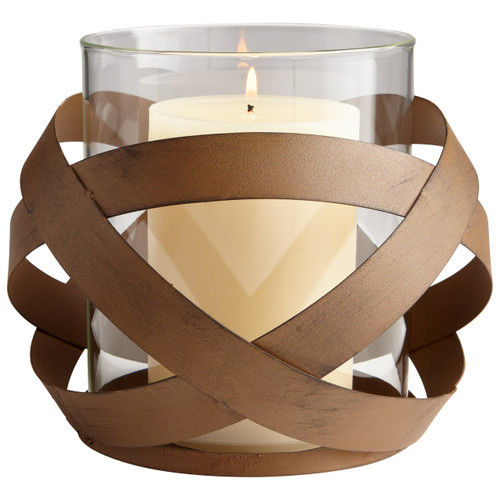 CYAN DESIGN 06213 Large Infinity Candleholder, Copper