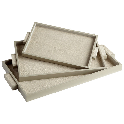 CYAN DESIGN 06012 Medium Melrose Tray, Shagreen