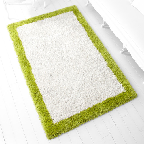 CYAN DESIGN 05792 Kendal Rug, White and Lime Green