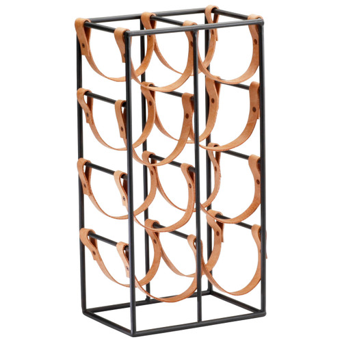 CYAN DESIGN 04915 Large Brighton Wine Holder, Raw Steel