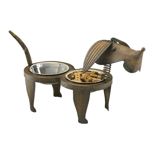 CYAN DESIGN 04092 Rex Pet Feeder, Pecan
