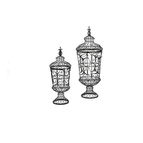 CYAN DESIGN 01630 Brocade Urns, Rust
