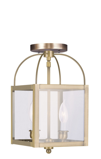 LIVEX Lighting 4041-01 Milford 2-Light Convertible Pendant Light