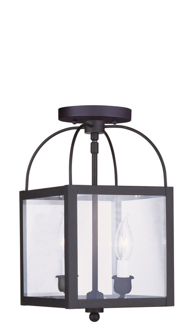 LIVEX Lighting 4041-04 Milford 2-Light Convertible Pendant Light