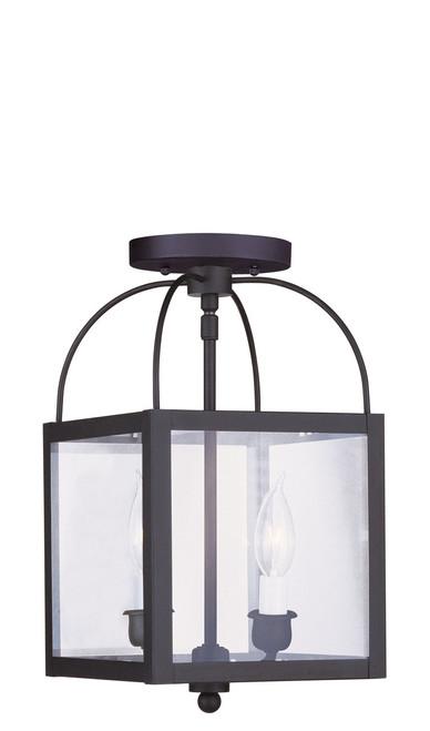 LIVEX Lighting 4041-04 Milford 2-Light Convertible Pendant Light