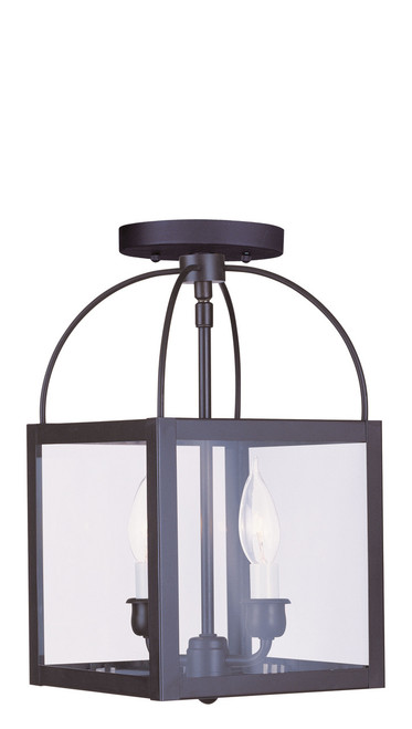 LIVEX Lighting 4041-07 Milford 2-Light Convertible Pendant Light