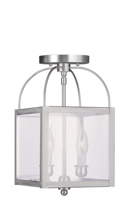 LIVEX Lighting 4041-91 Milford 2-Light Convertible Pendant Light