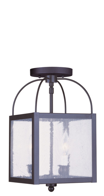LIVEX Lighting 4045-04 Milford 2-Light Convertible Pendant Light