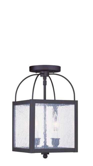 LIVEX Lighting 4045-07 Milford 2-Light Convertible Pendant Light