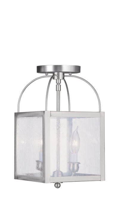 LIVEX Lighting 4045-91 Milford 2-Light Convertible Pendant Light
