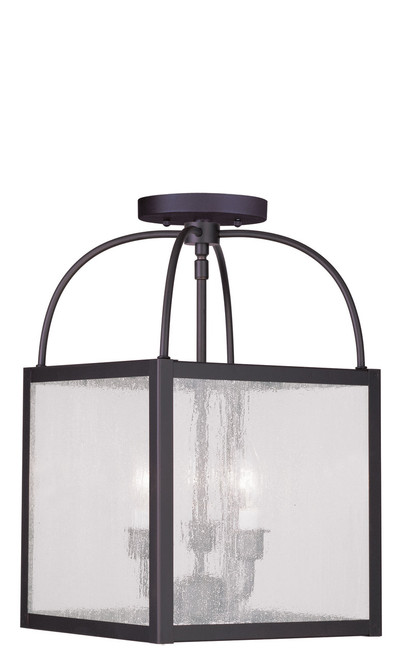 LIVEX Lighting 4055-07 Milford 3-Light Convertible Pendant Light