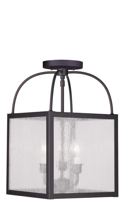 LIVEX Lighting 4055-07 Milford 3-Light Convertible Pendant Light