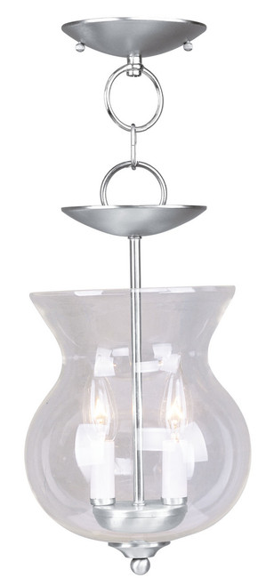LIVEX Lighting 4393-91 Home Basics 2-Light Convertible Pendant Light