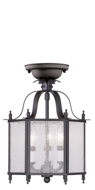 LIVEX Lighting 4397-07 Livingston 3-Light Convertible Pendant Light