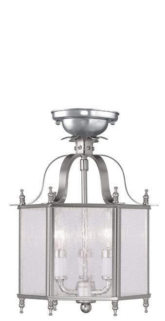 LIVEX Lighting 4397-91 Livingston 3-Light Convertible Pendant Light