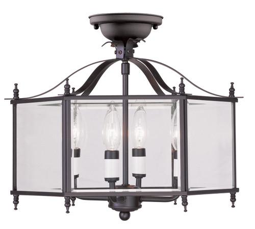 LIVEX Lighting 4398-07 Livingston 4-Light Convertible Pendant Light