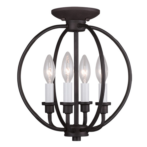 LIVEX Lighting 4664-07 Milania 4-Light Convertible Pendant Light