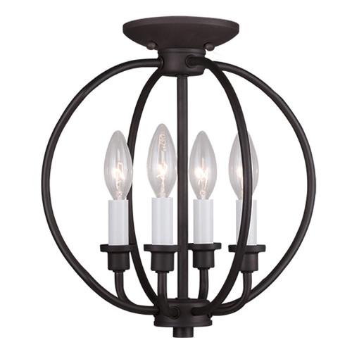 LIVEX Lighting 4664-07 Milania 4-Light Convertible Pendant Light