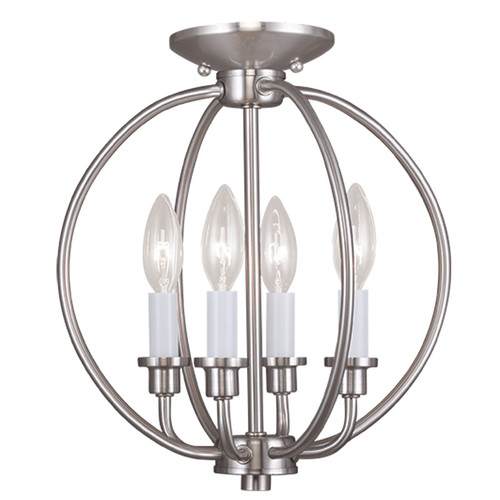 LIVEX Lighting 4664-91 Milania 4-Light Convertible Pendant Light