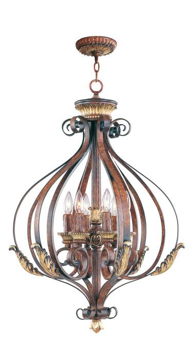 LIVEX Lighting 8557-63 Villa Verona 6-Light Foyer Pendant