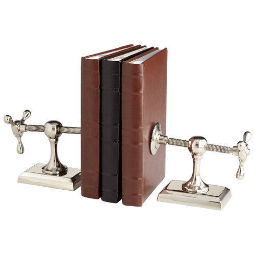 CYAN DESIGN 07034 Hot & Cold Bookends, Nickel