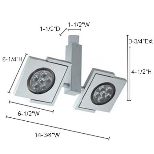 JESCO Lighting HL52312X1W5040S 12X1W ConTempo Series LED Track Light, 4000K, Silver