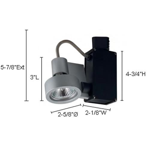 JESCO Lighting HLV701MR1650S ConTempo Series Low Voltage Track Light, Silver