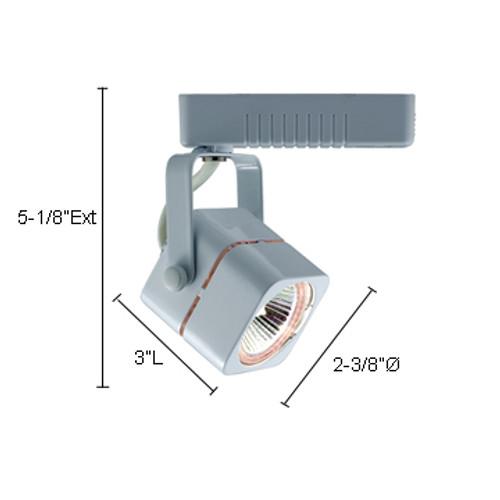 JESCO Lighting HLV10250SC Mini Deco Series Low Voltage Track Light, Satin Chrome